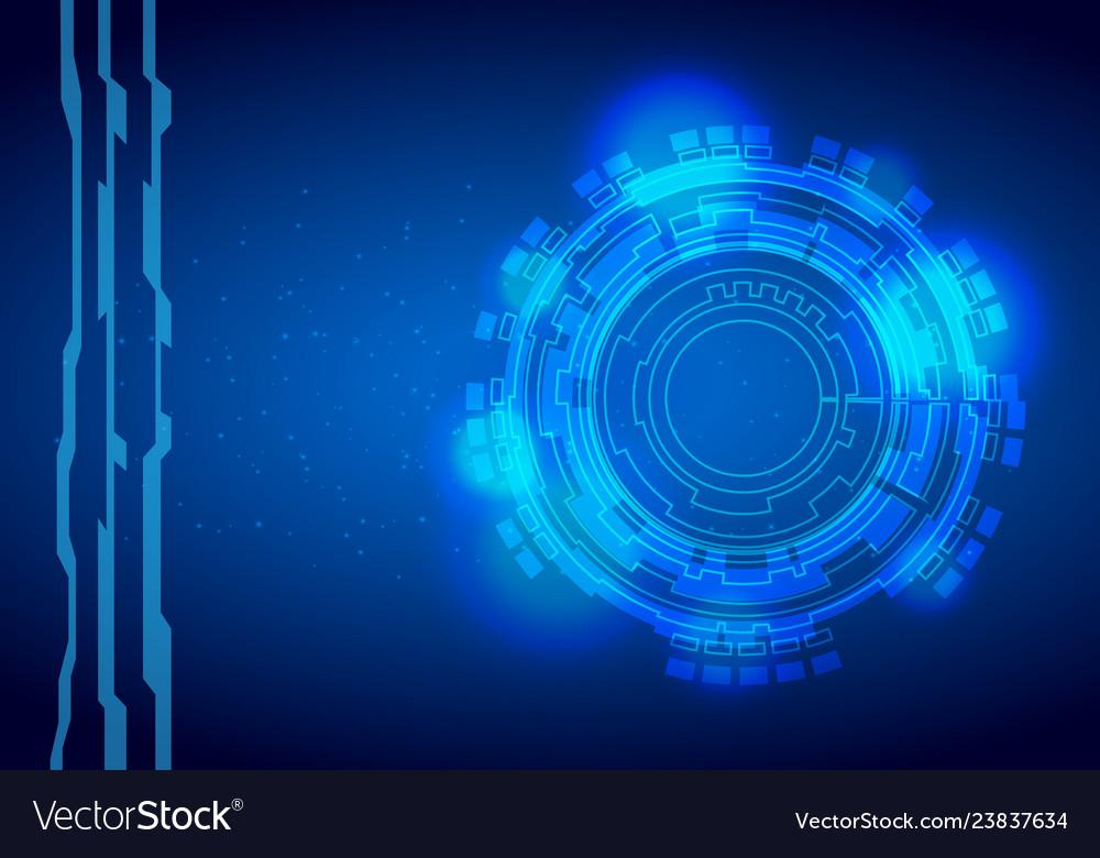 Sci-fi futuristic crosshair hud user interface
