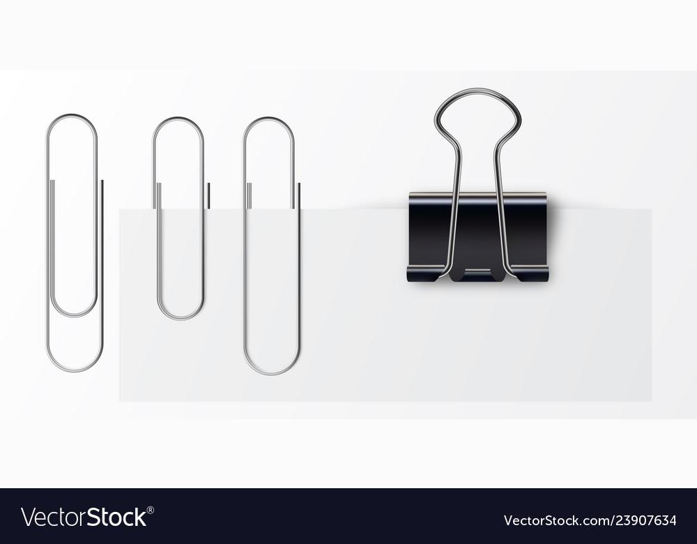 Set paper clip with black binder