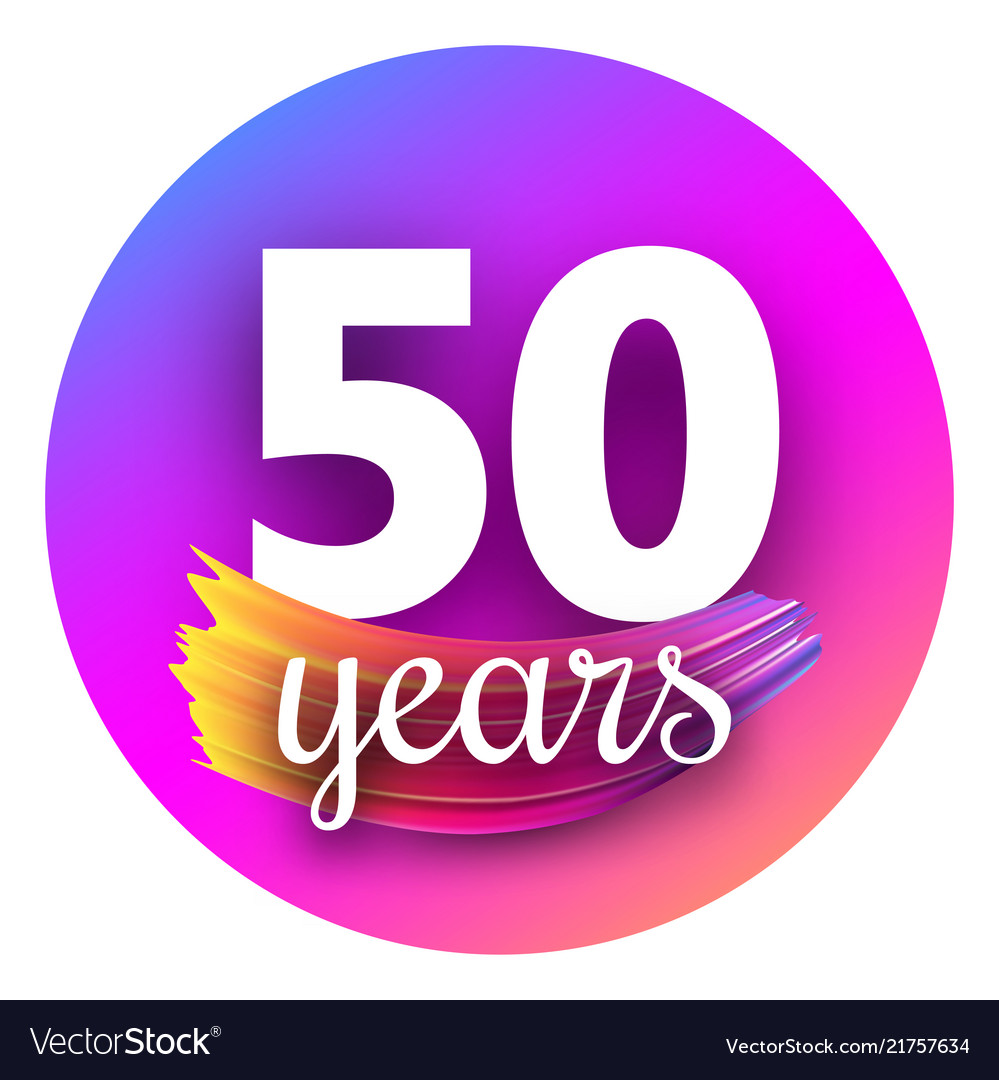 Spectrum fifty years greeting card with colorful