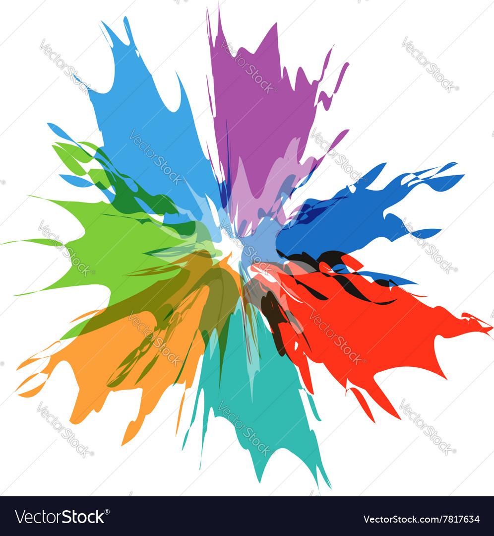 Splash burst color paints vector image