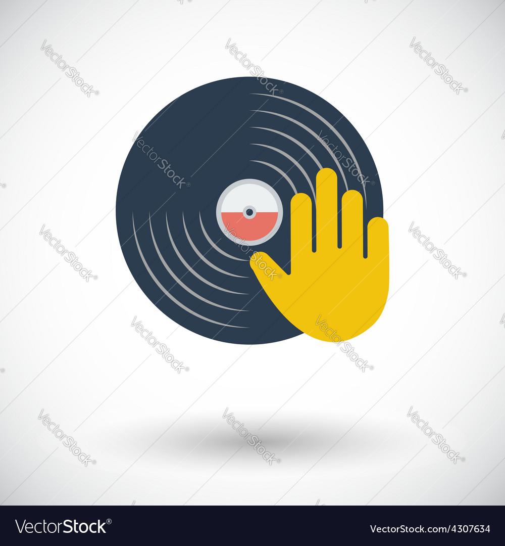 Vinyl disc whit hand
