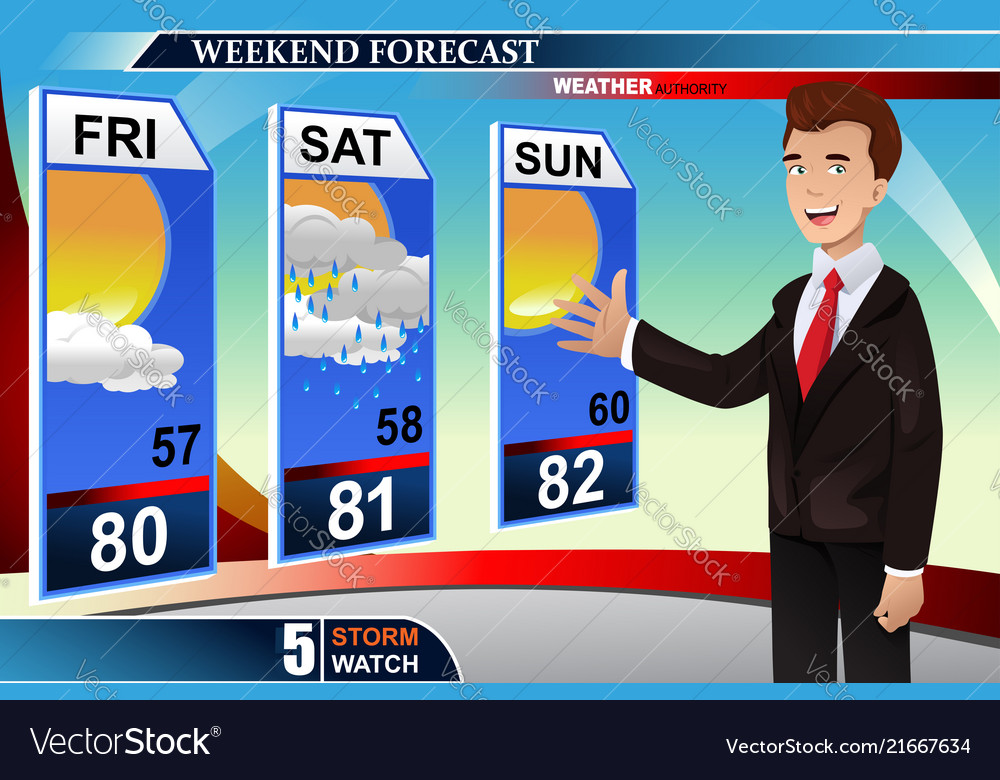 Weather news reporter Royalty Free Vector Image