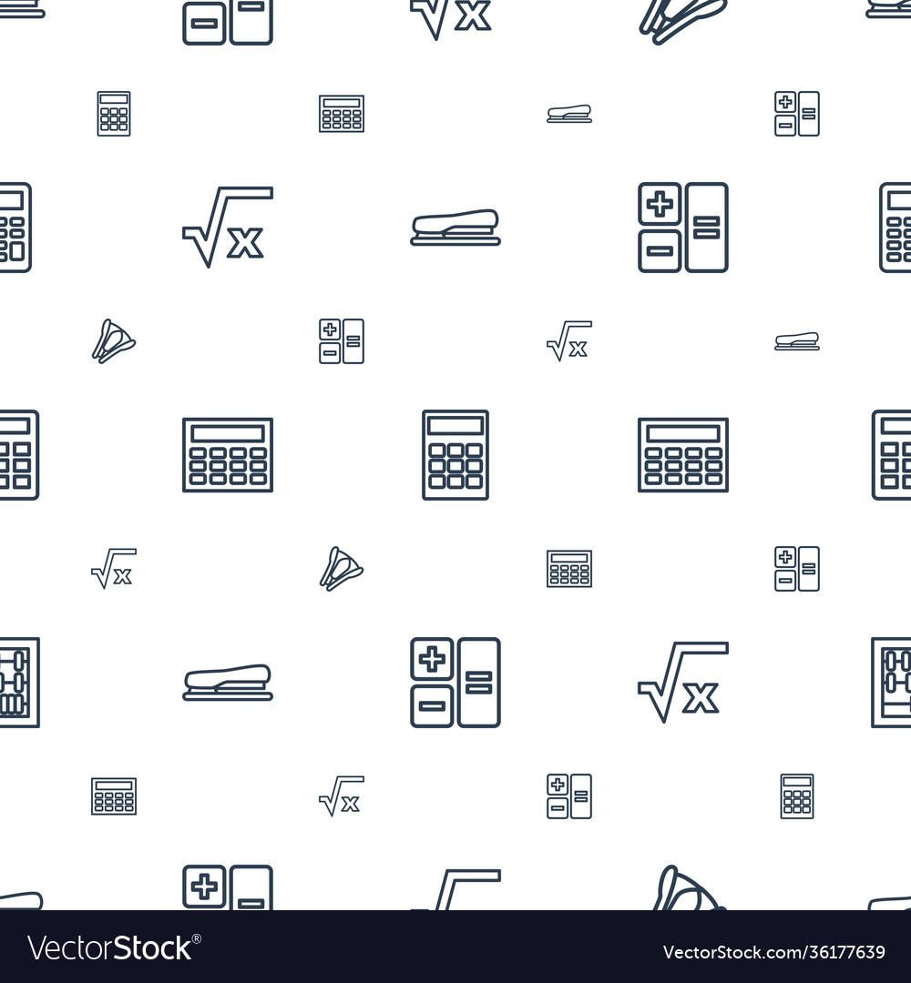 Calculator icons pattern seamless white background