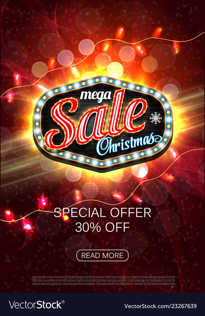Christmas sale advertising poster for the