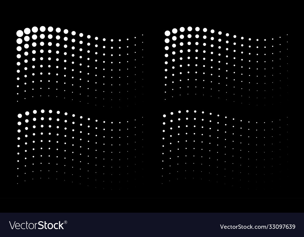 Corner wavy gradient halftone dots backgrounds