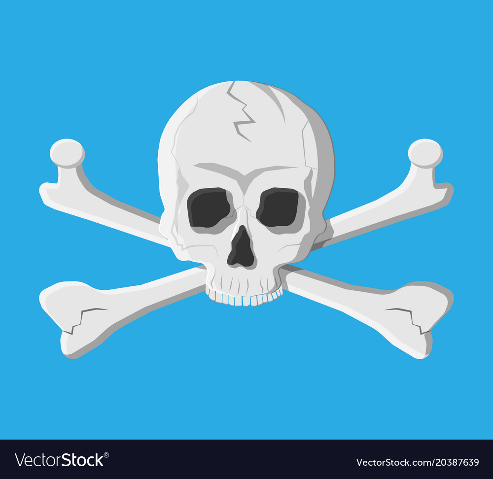Death skull and crossbones