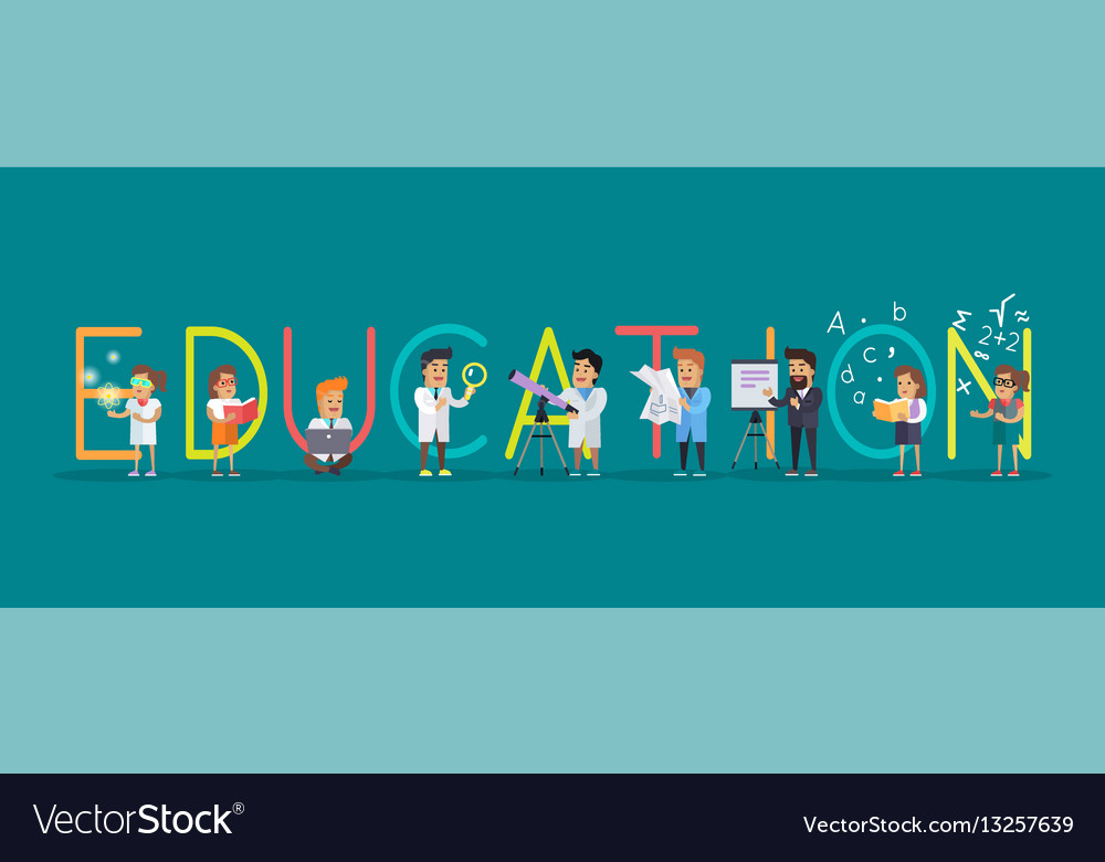 education banner science alphabet royalty free vector image