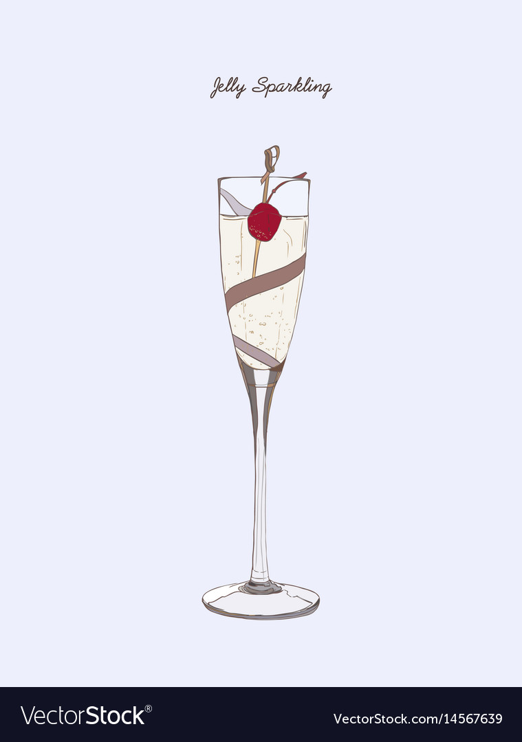 Glass of champagne jelly sparkling
