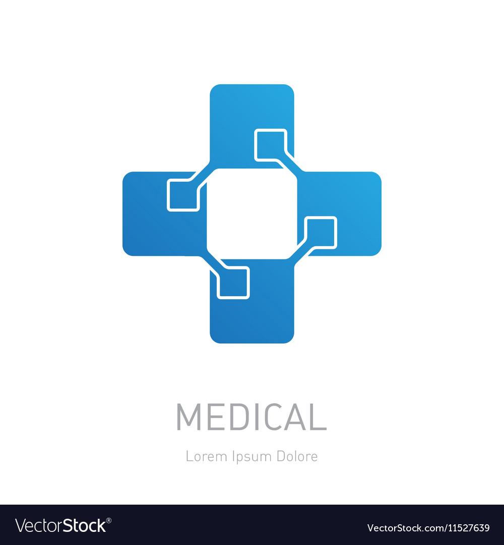 High-tech medicine logo Medical logotype design