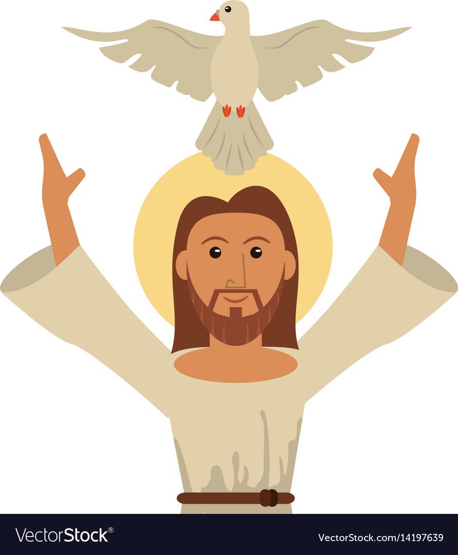 Jesus christ holy spirit catholic symbol