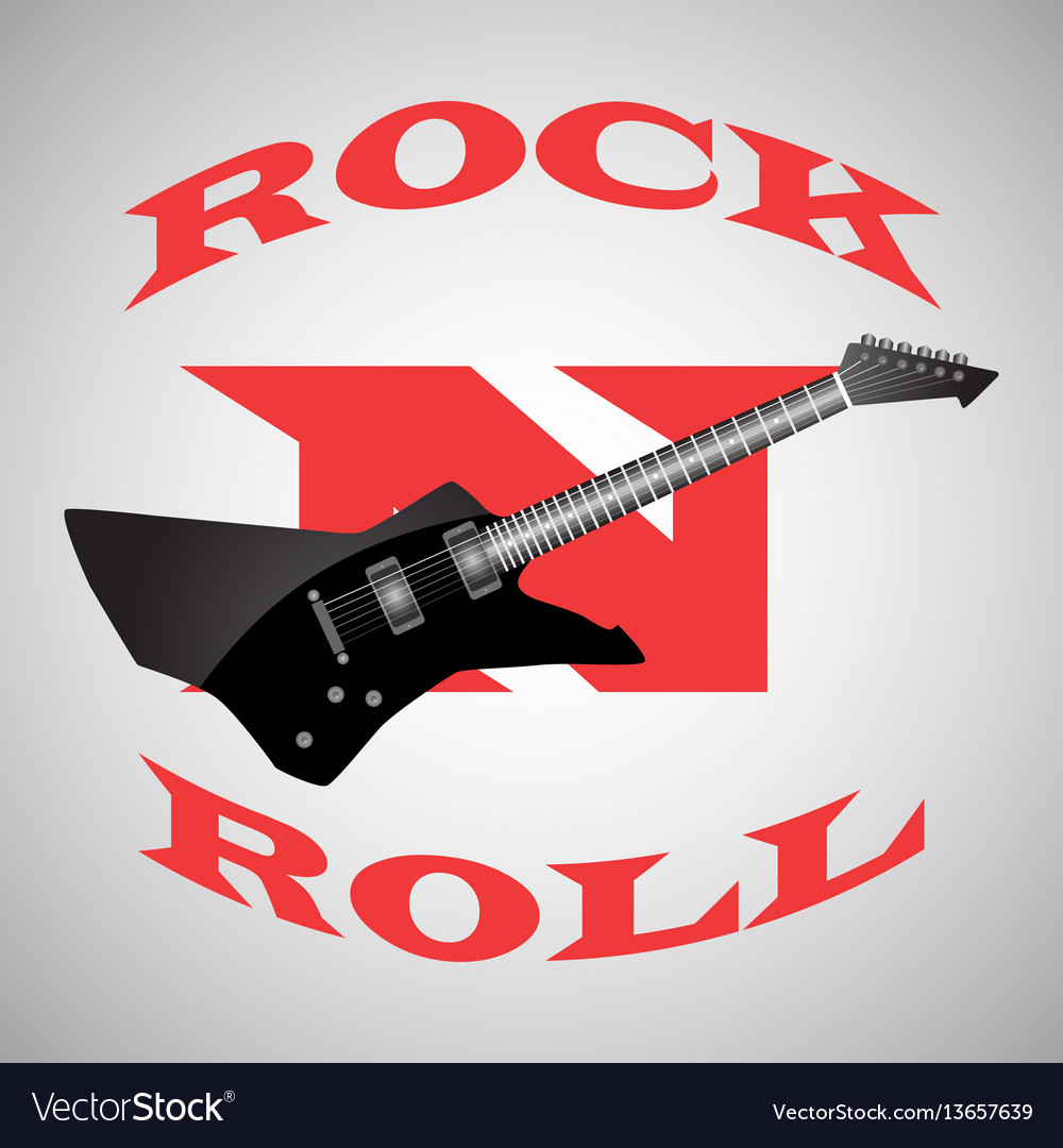 Poster to the world day of rock n roll black