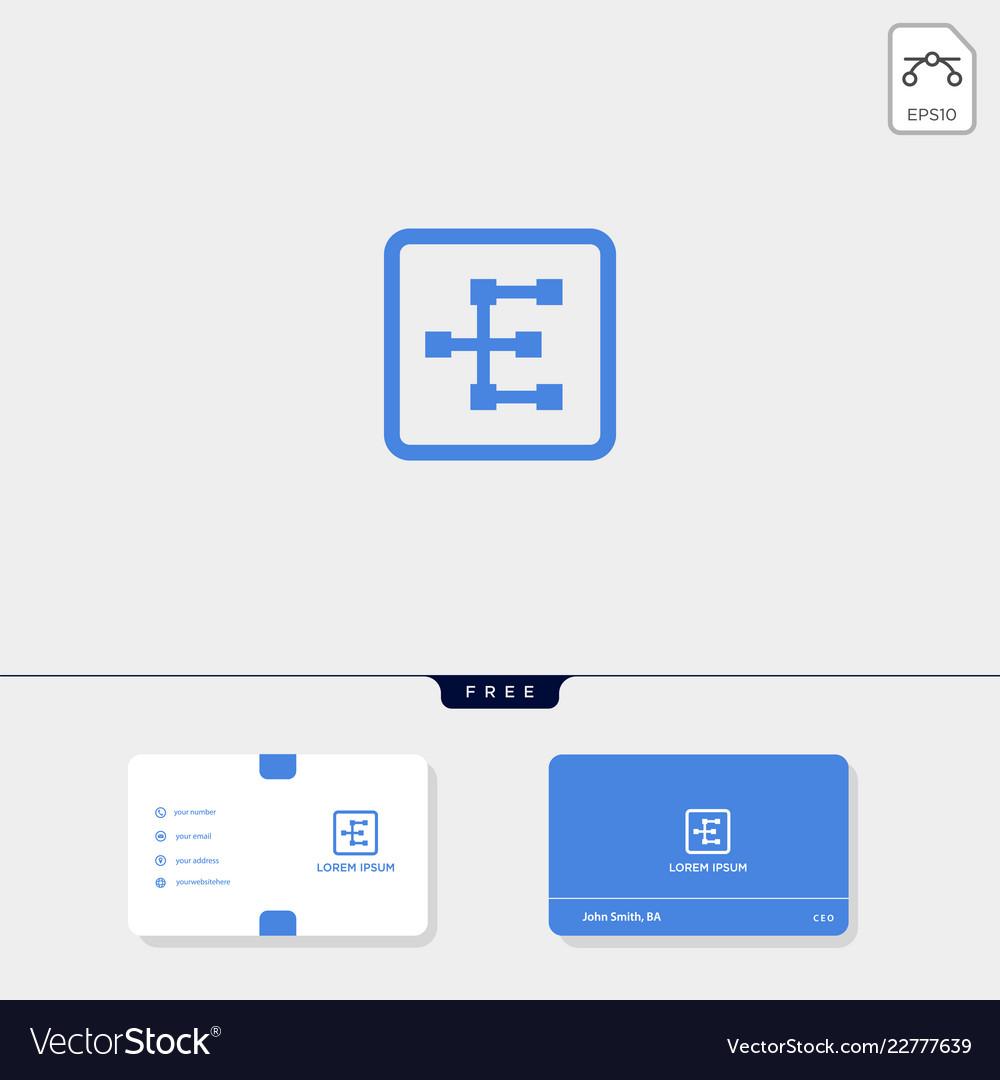 Premium initial e geometric logo template and