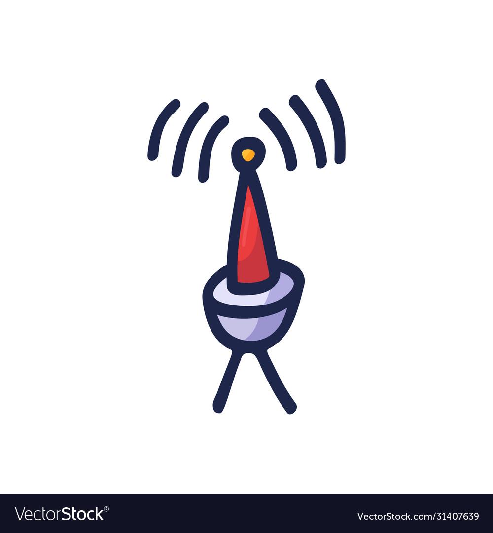 Radio signals waves and light rays radar wifi