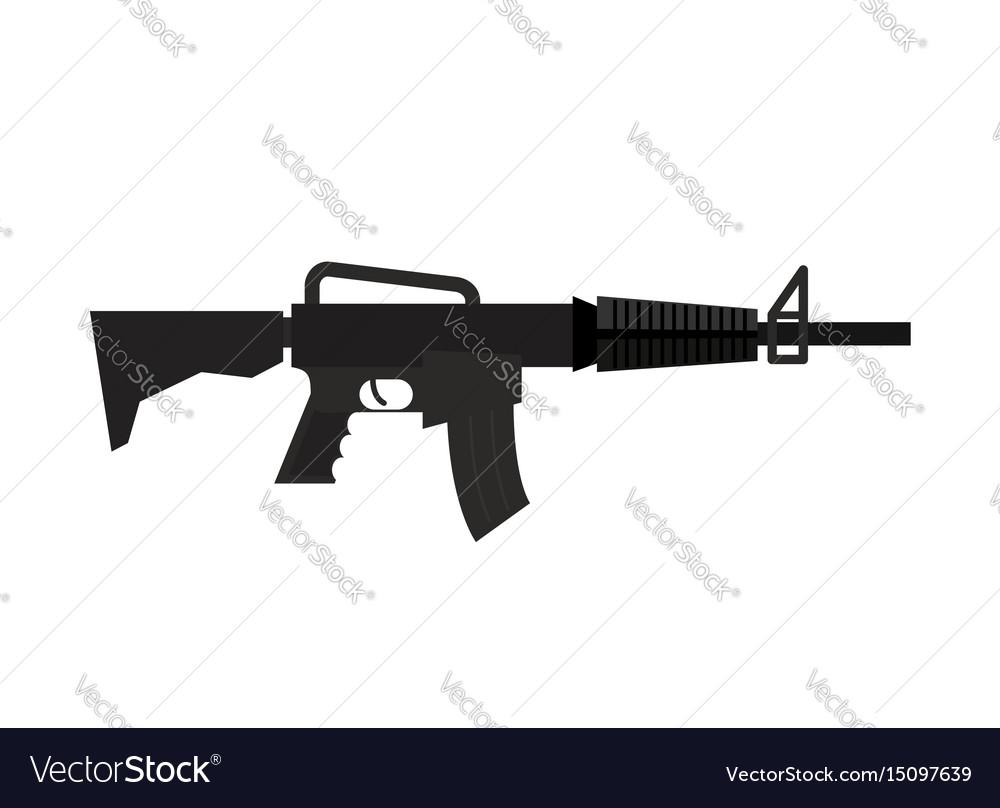 Rifle isolated machine gun on white background