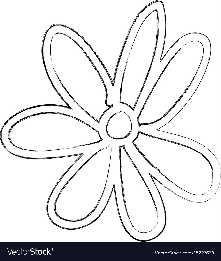 Sketch draw flower cartoon