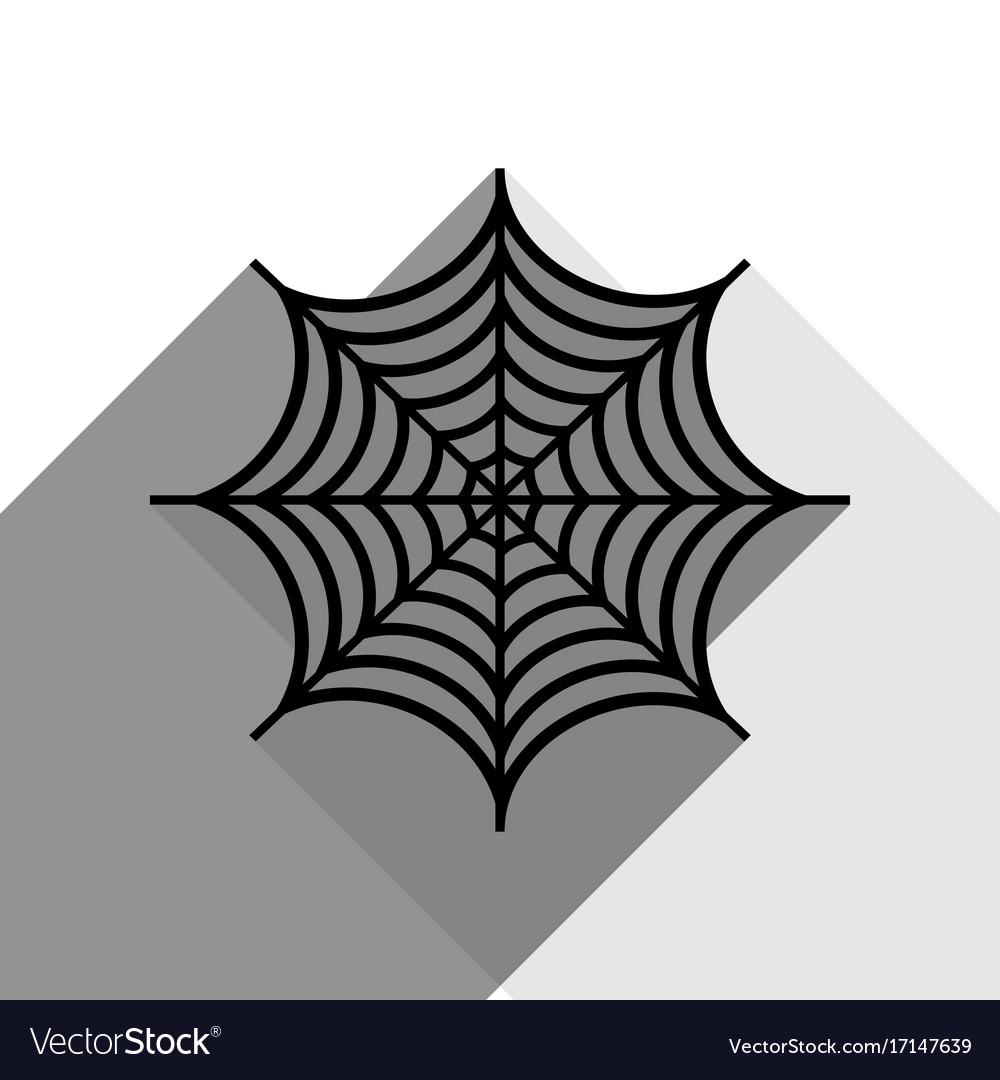Spider on web black icon