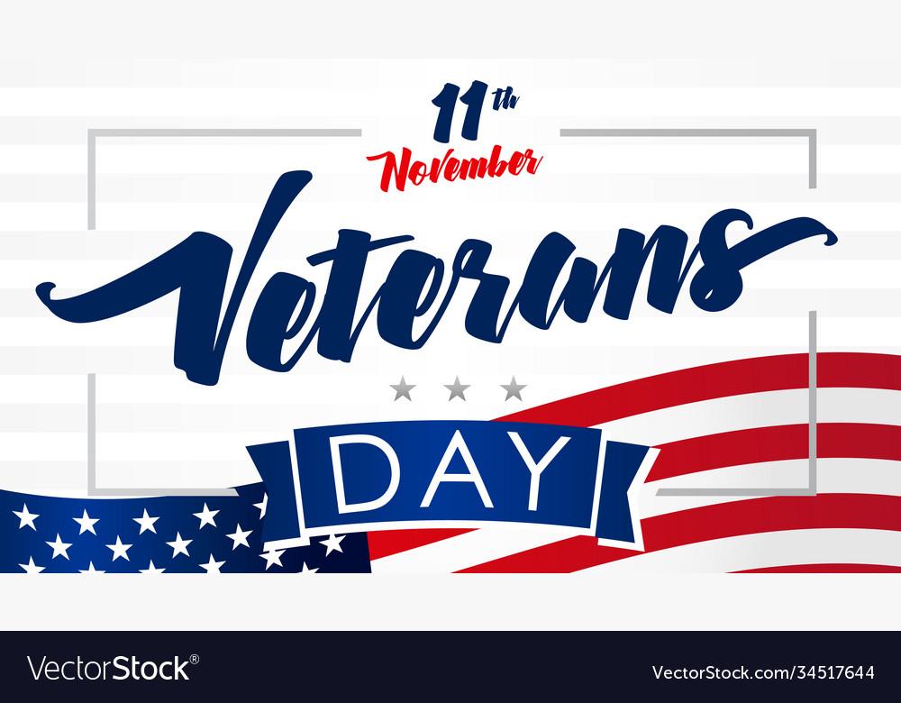 11 november veterans day usa flag card