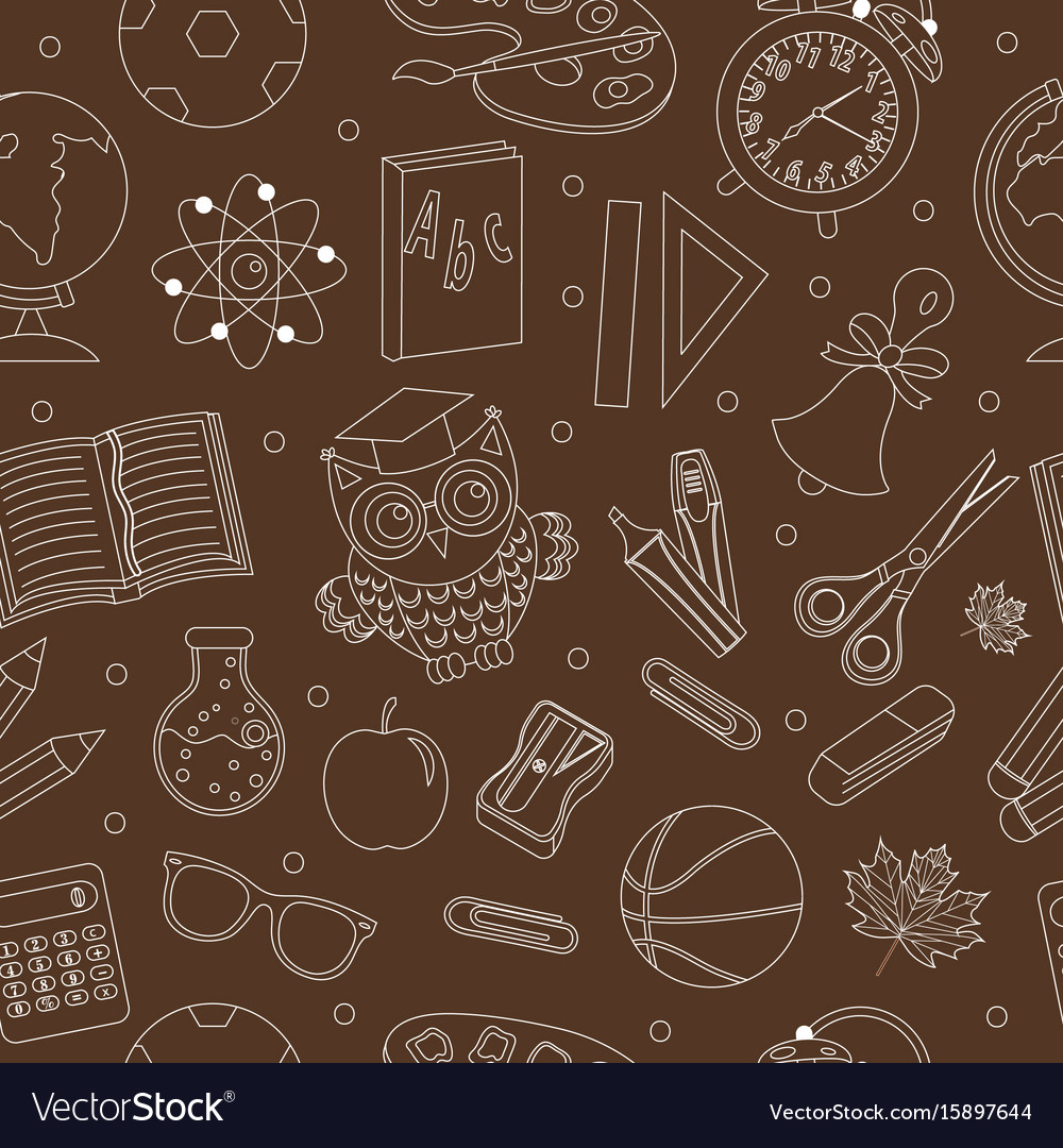 Back to school seamless pattern hand drawing