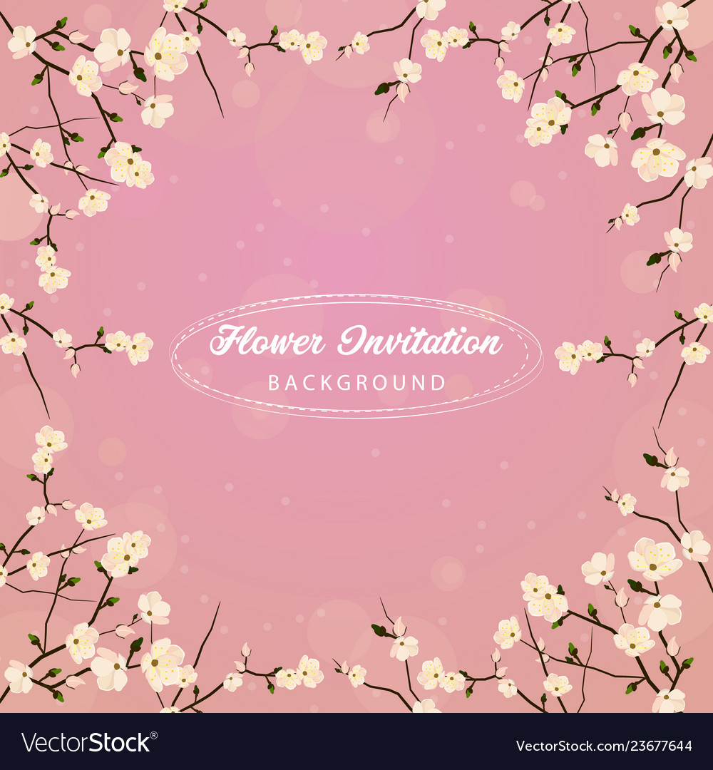 Flower invitation background