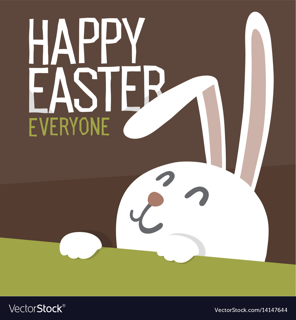 Happy easter everyone easter bunny