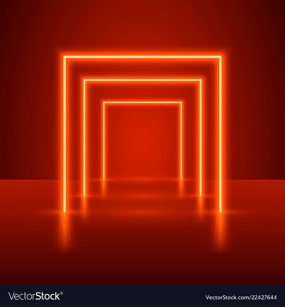 Neon show light podium