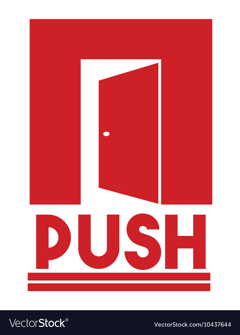 Push pull signs1 resize vector image
