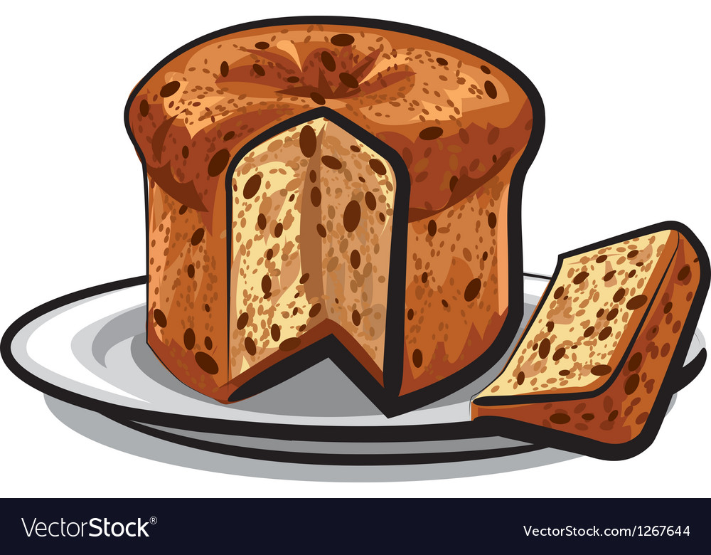 Raisins cake panettone vector image