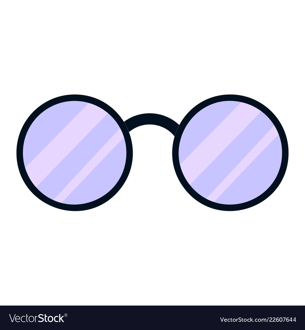 5d05a3b6830f Round glasses icon cartoon style Royalty Free Vector Image
