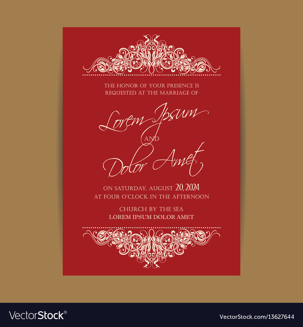 Wedding invitation floral backgroundl Royalty Free Vector