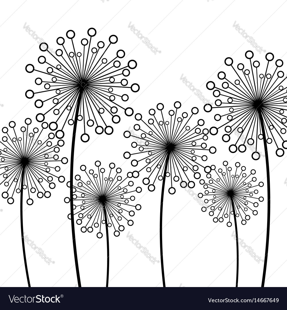 Background with decorative flower dandelion