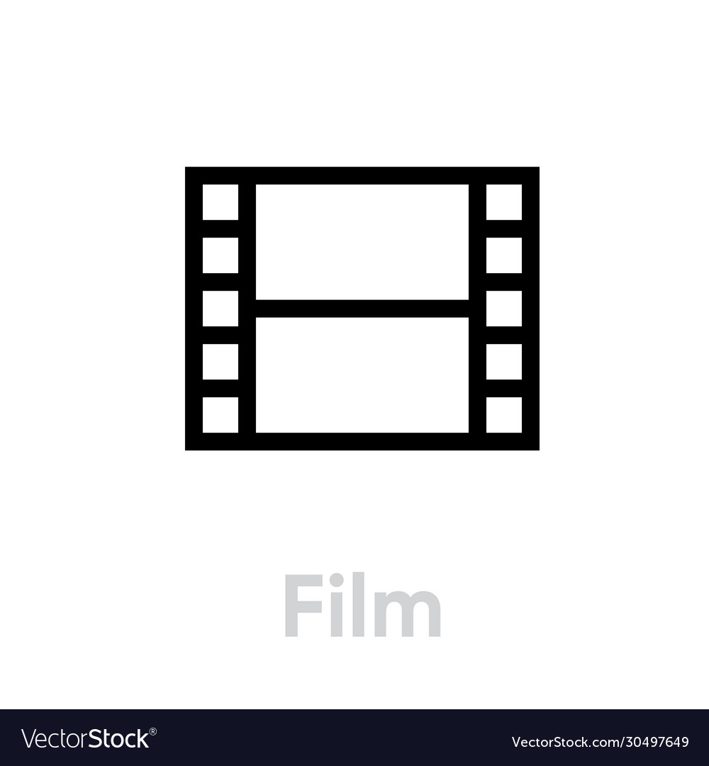 Film icon editable outline