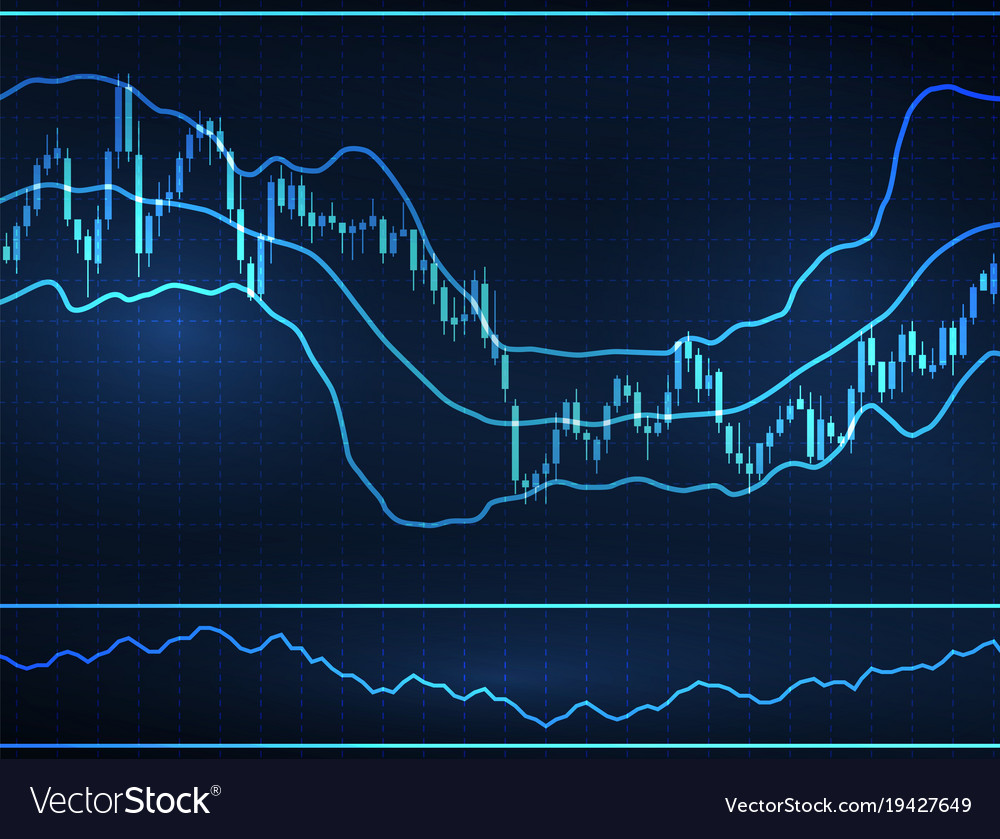 Forex Stock Chart Data Candle Graph Vector Image