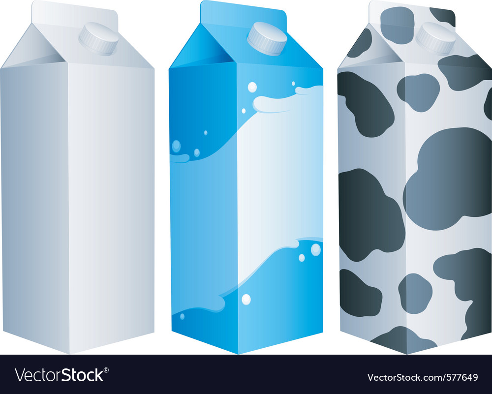 Milk packs vector image