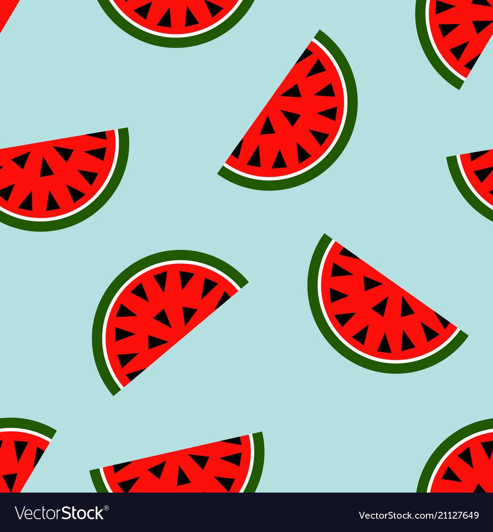 Seamless watermelon geometric pattern