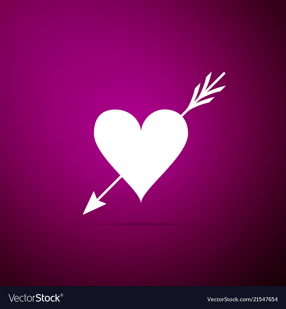 Amour symbol with heart and arrow icon isolated