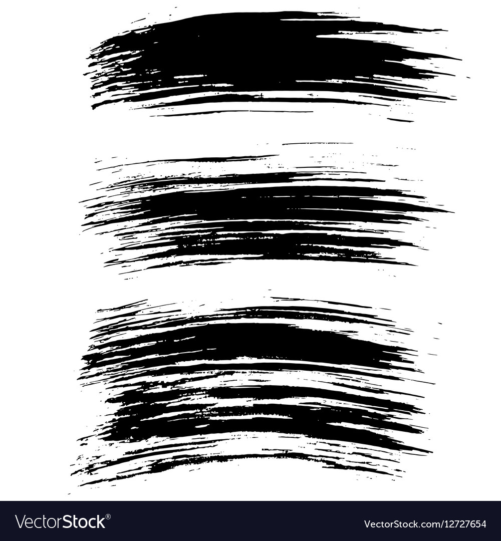 Black Ink Brush Strokes Background Royalty Free Vector Image