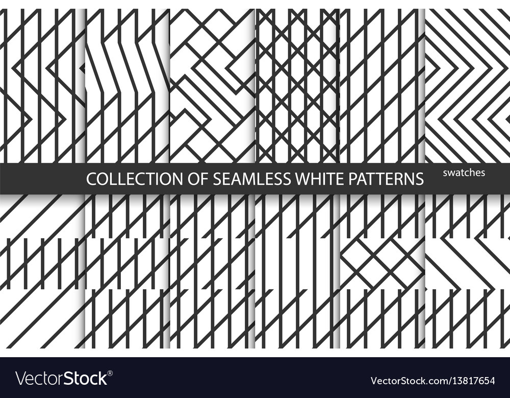 Collection of geometric seamless patterns