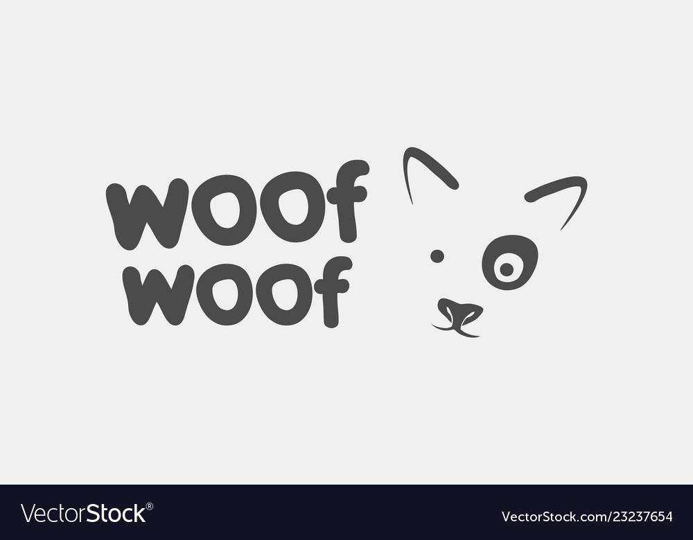 Dog face logo icon branding design