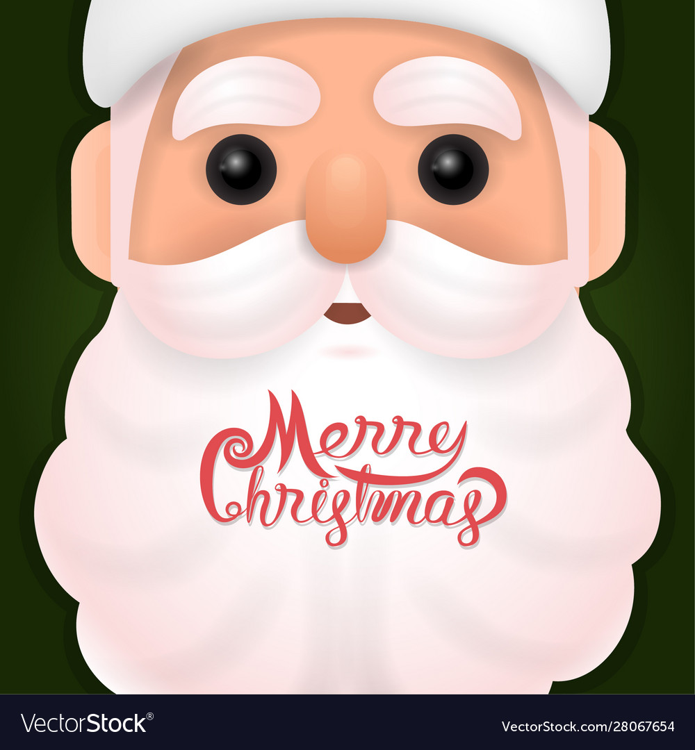 Funny happy santa claus character on background