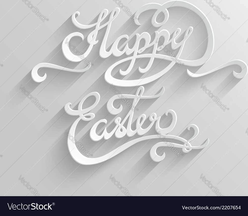 Happy Easter lettering Greeting Card