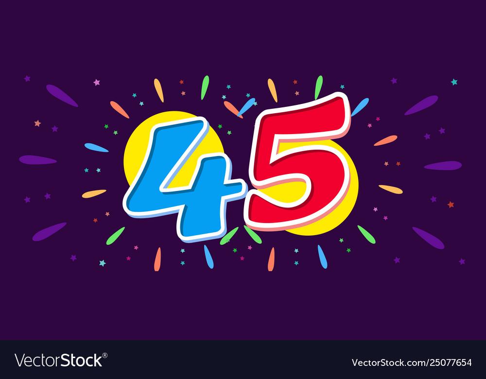Horizontal banner anniversary celebrating bright