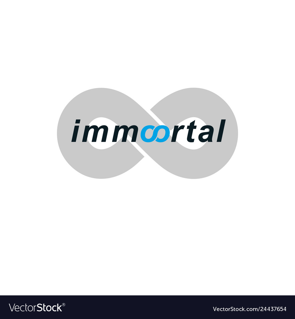 Immortal lettering logo isolated on white