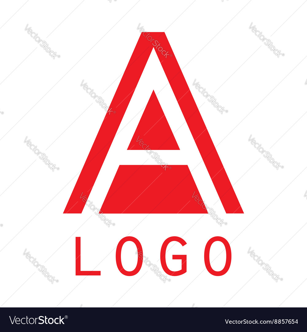 Logo A letter Isolated on white background
