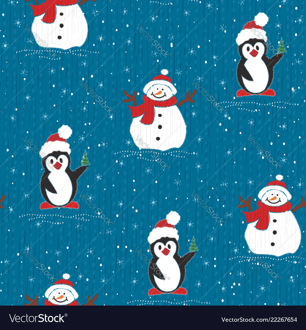 Painted wallpaper christmas pattern