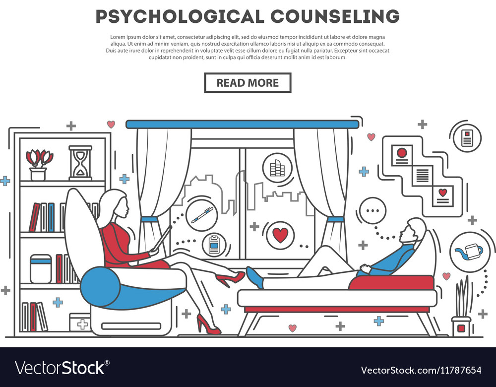 Psychological counseling website template vector image