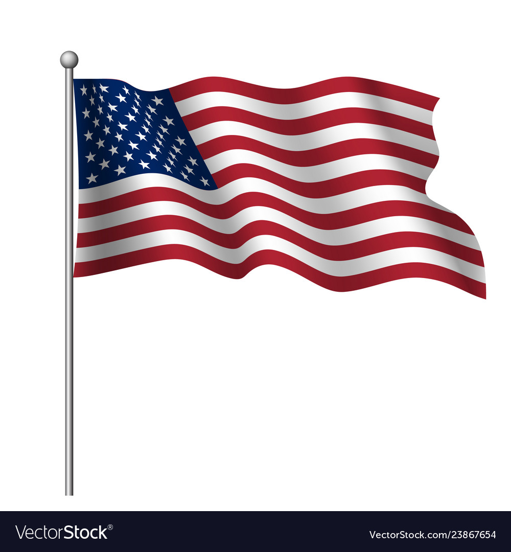 Waving national flag united states america