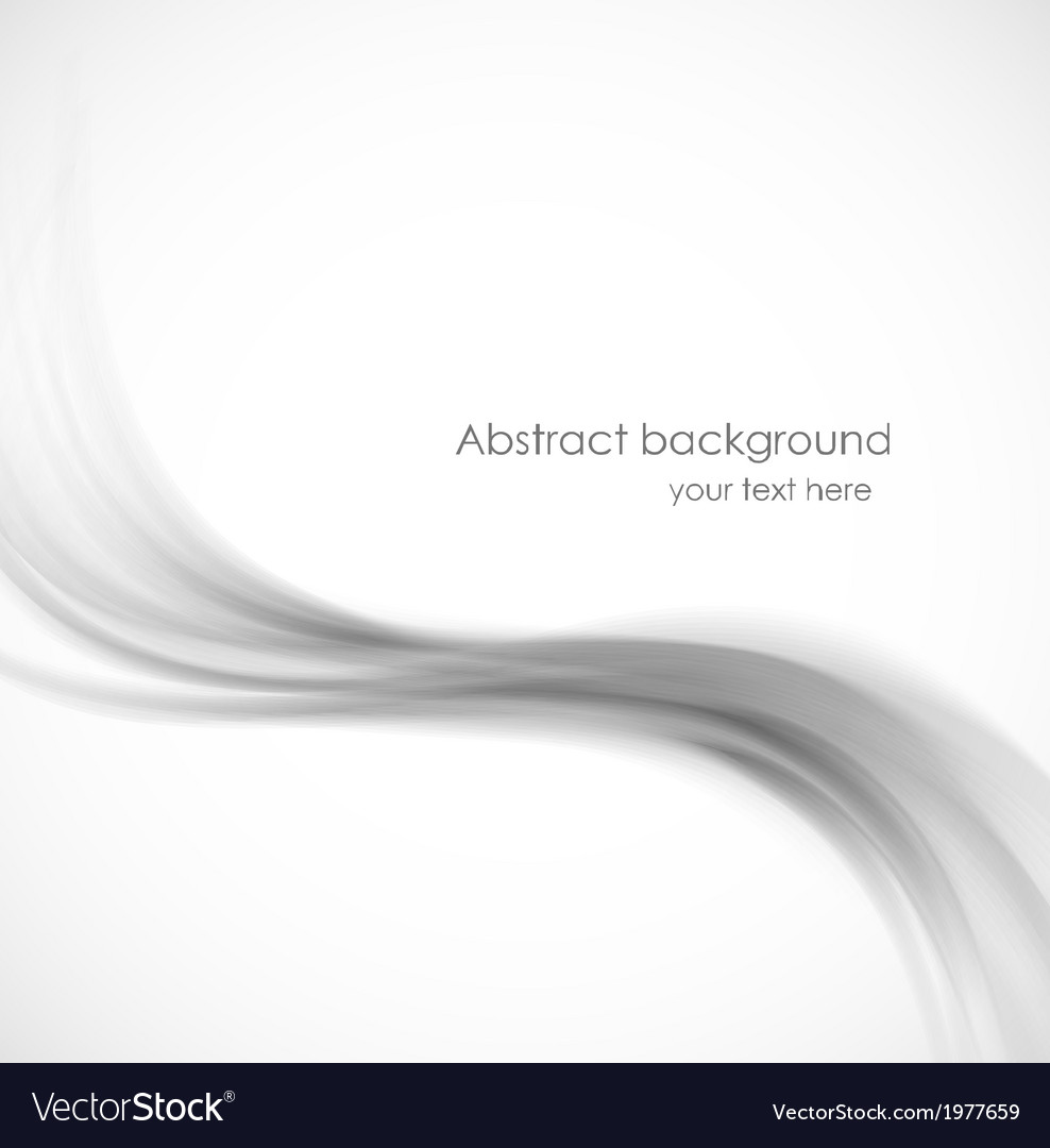 Abstract wavy background in gray color vector image