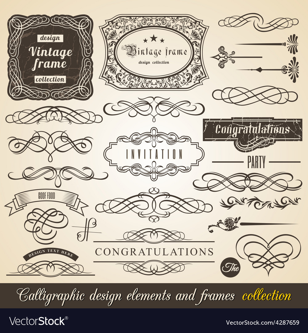 Calligraphic Element Border