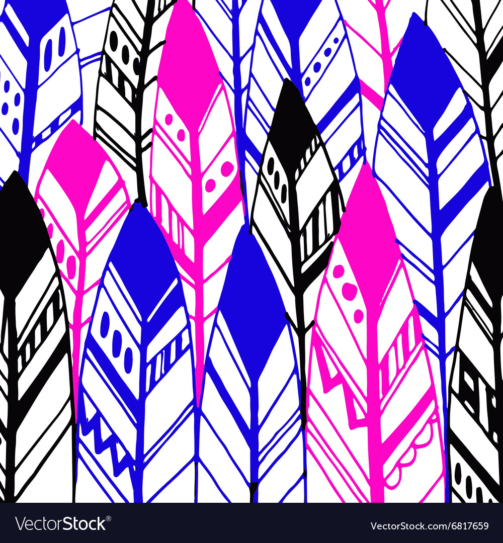 Feather background retro pattern ethnic