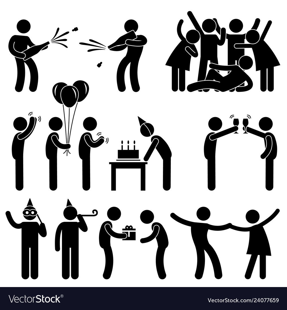 Friend party celebration birthday icon symbol